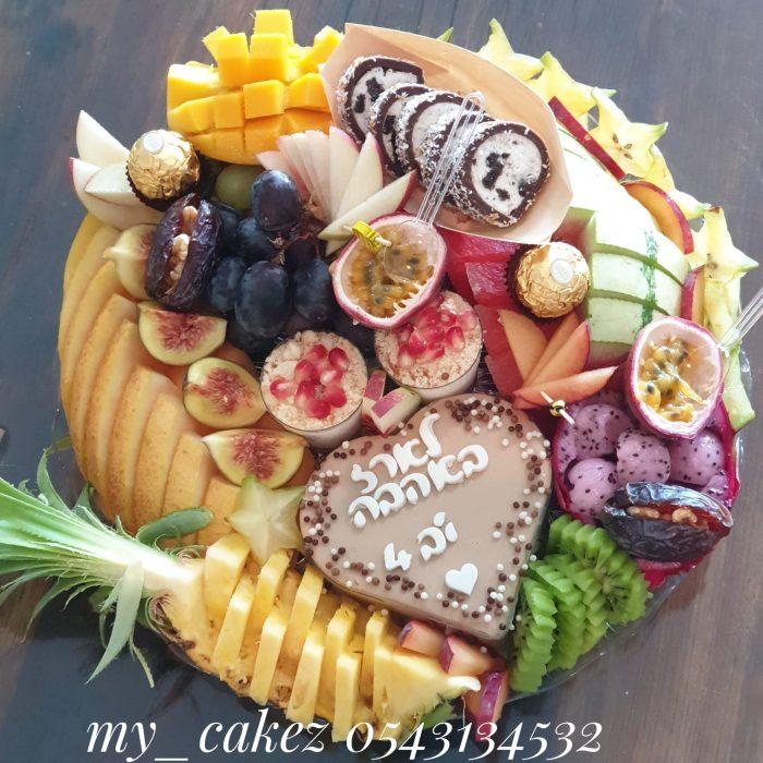 מגש פירות משולב גדול להזמנה עם משלוח עד הבית