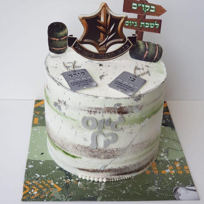 דוגמה לעוגה מעוצבת להזמנה